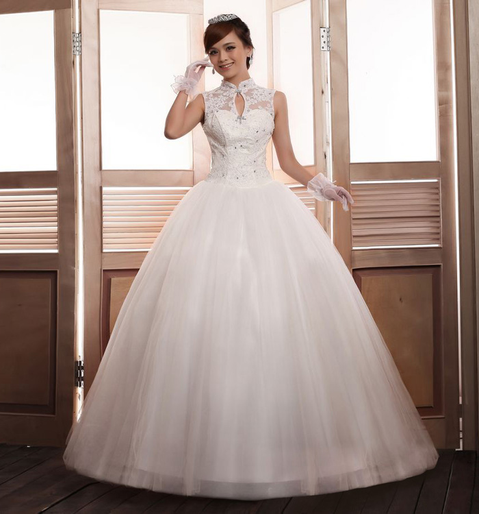 Wedding dresses with collar cheap wedding dresses for Wedding dress with collar