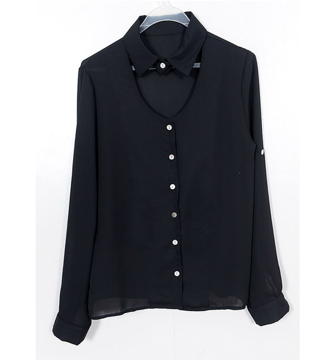 Women 39 s white blouse with black collar mexican blouse for White shirt with black